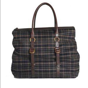 Salvatore Ferragamo Other - Salvatore Ferragamo Wool & Leather Duffle Bag