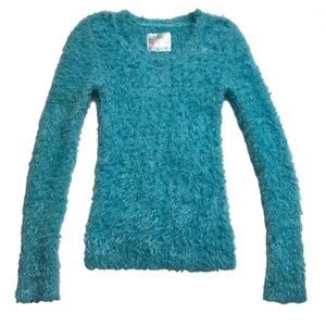 Justice Other - Justice Girls Blue Fur Like Super Soft Sweater 10