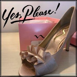 Nina Shoes - Brand New Gold heels