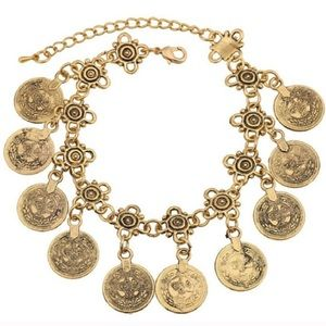 Karis' Kloset Jewelry - Jewelry | Boho coin anklet AND bracelet gold