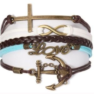 Ashley Bridget Jewelry - BRAND NEW five pierces LOVE bracelet w/ gift pouch