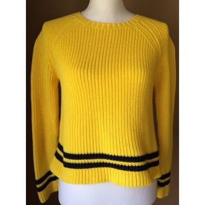 Andrea Jovine Sweaters - Andrea Jovine Yellow Cropped Sweater