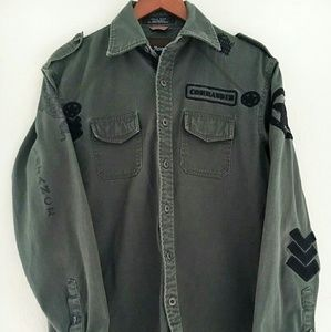Roar Other - Distressed Military Combat Tactical Shirt Men M