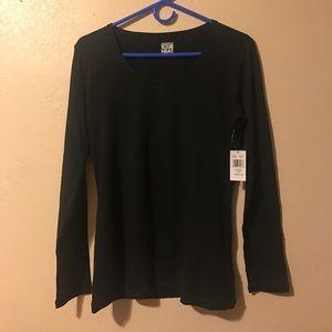 32 Degrees Tops - Woman's black long sleeve