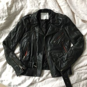 Surface to Air Jackets & Blazers - Surface To Air Leather Moto Jacket