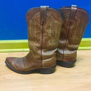 Lucchese Shoes - 1883 Lucchese brown cowboy boots