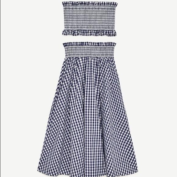 573bdb7bdc Zara Skirts | Gingham Two Piece Hirt Set | Poshmark