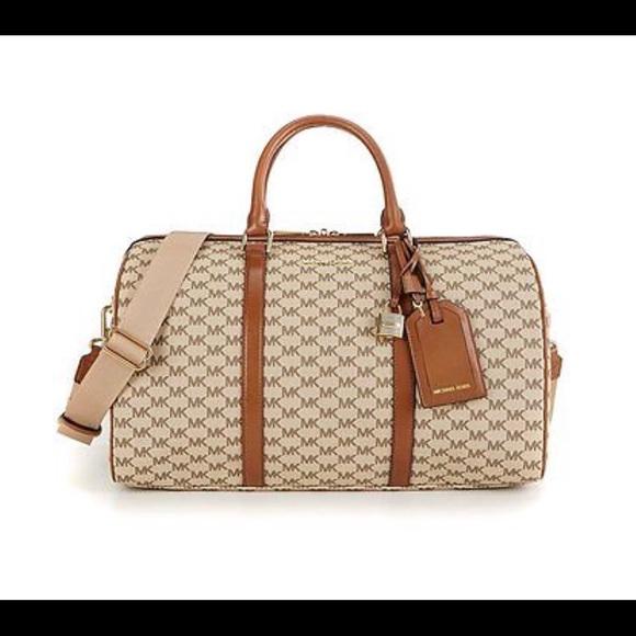Michael Michael Kors Bags Travel Mk Duffle Bag Signature