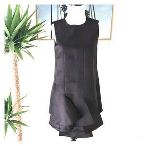 Tibi Dresses & Skirts - Tibi- Satin Layered Tunic Purl Edge