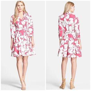 Diane von Furstenberg Dresses & Skirts - DVF Pink & White Floral Cotton Wrap Dress