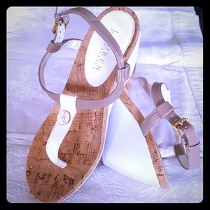 Ralph Lauren Shoes - Strappy sandals, cork and leather RLL