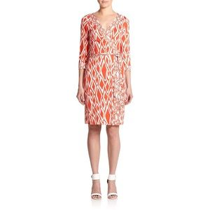 DVF Julian Ikat Silk Wrap Dress