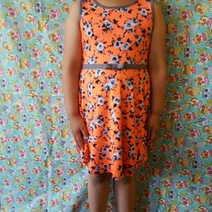Zunie Other - Orange floral summer dress
