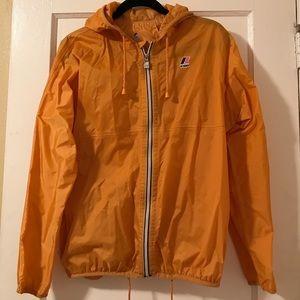 K-Way Jackets & Blazers - Rain/wind hooded jacket with adjustable waist.