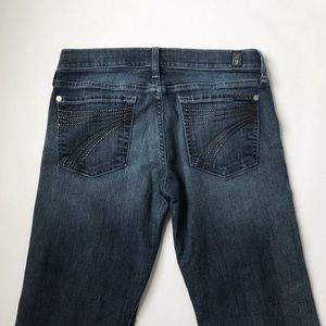 7 For All Mankind Dojo Jean 7 Back Pocket Size 27
