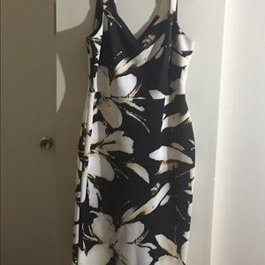 Ashley Graham line Dress barn floral black dress