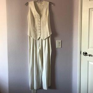 Vintage off white jumpsuit