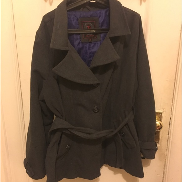 authentic get new variety design Plus size pea coat! Wool blend