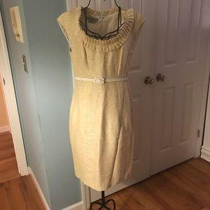 Kay Unger yellow dress
