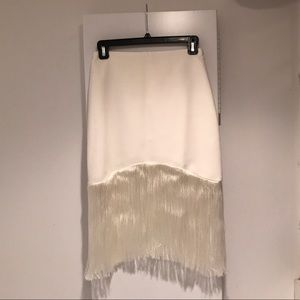 Alexis Dresses & Skirts - NWOT Alexis Exclusive Fringe Skirt White XS