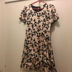 Reiss Dresses & Skirts - Reiss Silk butterfly dress in Cream size 2
