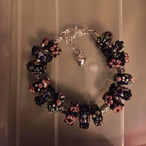 Jewelry - Murano glass beads silver bracelet