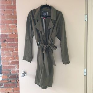 Vince Camuto Jackets & Blazers - Vince Camuto Soft Trench Olive Green