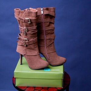 Ann Michell Shoes - Brown Suede High heel Boots