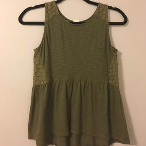 Tops - Army green tank top