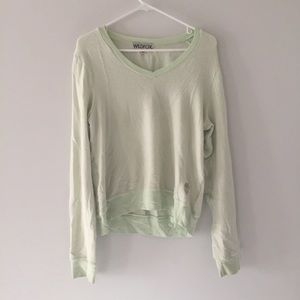 Wildfox Mint Green V-Neck Sweater