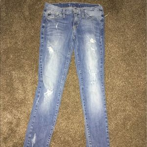 Denim - Light blue ripped skinny jeans 0712881c570