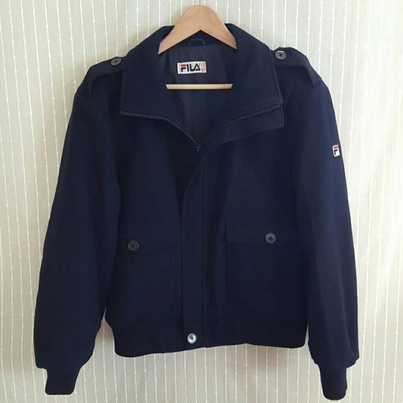 b0b3d861658d Vintage FILA Wool Bomber Jacket