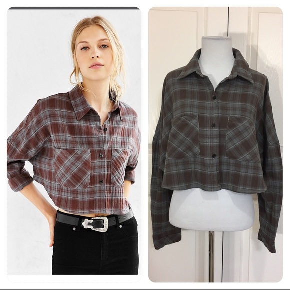 c0d518e7 ... Cropped Flannel Button-down Shirt. M_5919160468027808b502bfc2. Other  Tops ...