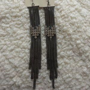 sophia & kate Jewelry - Sophia & Kate Gunmetal Super Sexy earrings 💅🏼💋