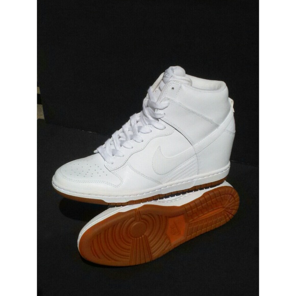 054721d933fcf Nike SB Dunk Low Atlas · Nike Dunks Sole: Nike Sky Hi Dunk Hidden Wedge All  White Gum Sole R