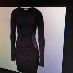Faith Connexion Dresses & Skirts - FAITH CONNEXION black dress wth leather at waist