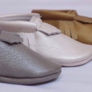 Honey & Hide  Other - Argento-Grey Handcrafted Moccasin