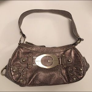 GUESS  Small Bag Lilac Color Python Pattern