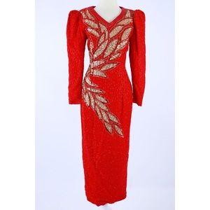 Red Sequin Dress