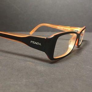 Prada VPR17H Orange & Black Eye Glasses