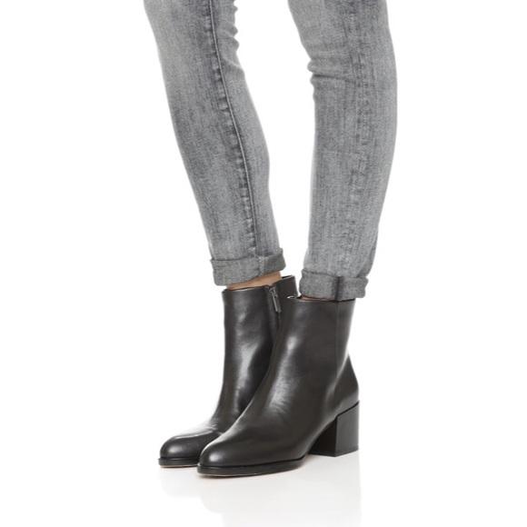 82de727f946af9 SAM EDELMAN Joey Black Leather Ankle Boot