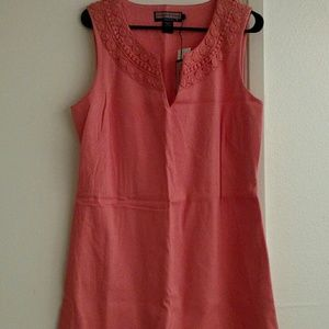 Coral vineyard vines shift dress