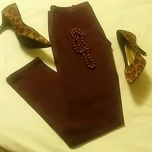 Sophie Max Denim - Burgundy Skinny jeans fit for a Queen