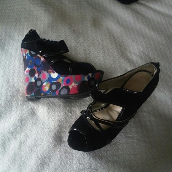 77 liliana shoes liliana peep toe platform wedges