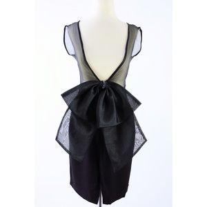 Black Mini Dress With Back Bow