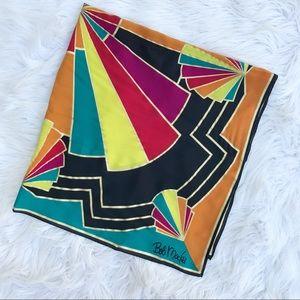 Bob Mackie Accessories - Bob Mackie Multi-colored Large Wearable Art Scarf