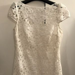 Ali Ro Dresses & Skirts - Ali Ro white floral lace dress 2 xs small summer