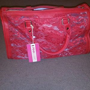 PINK Cosmo red satchel bag, NWT