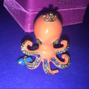 FLASH SALE!Betsey Johnson queen sea octopus ring