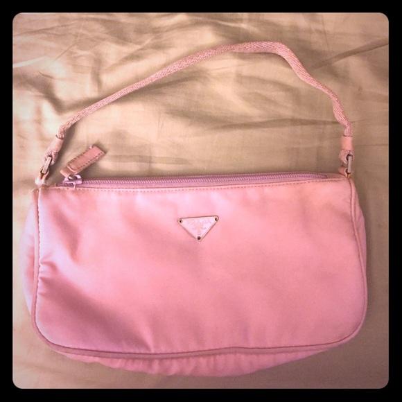 8bfe96ee584a PRADA TESSUTO SPORT pink nylon bag. M 59192a927f0a052c6303272c